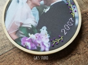 galstudio wedding ornament purple