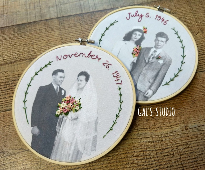 galstudio double wedding hoops