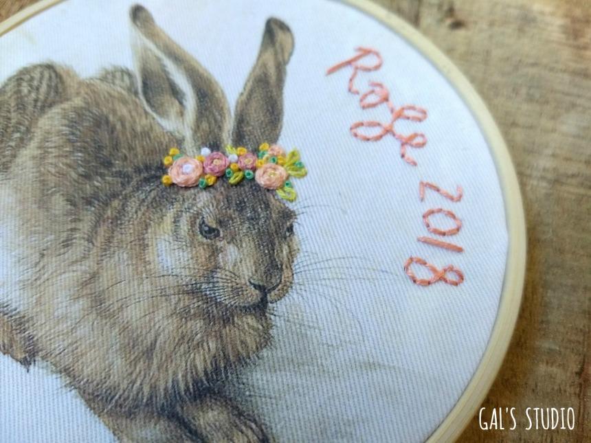 galstudio Easter bunny text DETAIL